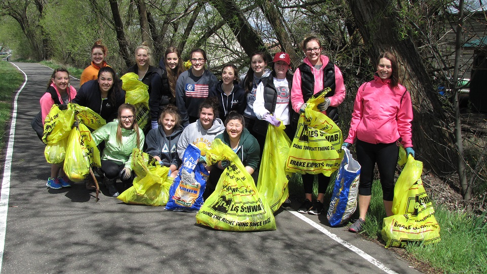 Paradise Creek Stream Clean-Up 2014